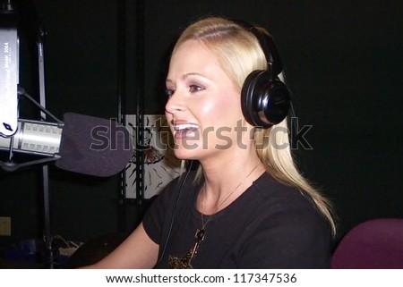 Katie Lohmann co-hosting Playboy Radio on Sirius. Playboy Radio, Culver City, CA. 02-18-07 - stock photo