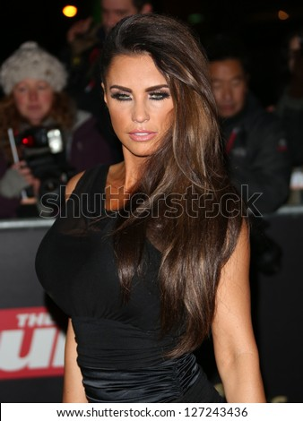 Katie Price arriving for the Night of Heroes: The Sun Military Awards 2012 held at the Imperial War Museum, london, 06/12/2012 Picture by: Henry Harris - stock photo