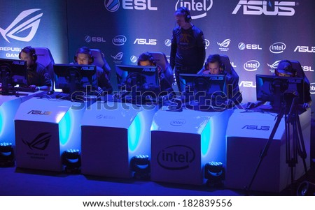 KATOWICE, POLAND - MARCH 16: Fnatic at Intel Extreme Masters 2014 (IEM) - Electronic Sports World Cup on March 16, 2014 in Katowice, Silesia, Poland. - stock photo