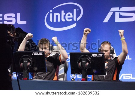 KATOWICE, POLAND - MARCH 16: Virtus.Pro at Intel Extreme Masters 2014 (IEM) - Electronic Sports World Cup on March 16, 2014 in Katowice, Silesia, Poland.