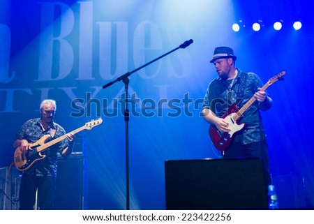 KATOWICE, POLAND - OCTOBER 11: Shawn Holt & The Teardrops at Rawa Blues Festival - The world's biggest indoor blues festival on October 11th, 2014 in Katowice, Silesia, Poland.