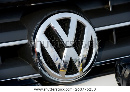 kaunasmar 26 closeup vw logo on foto de stock libre de. Black Bedroom Furniture Sets. Home Design Ideas