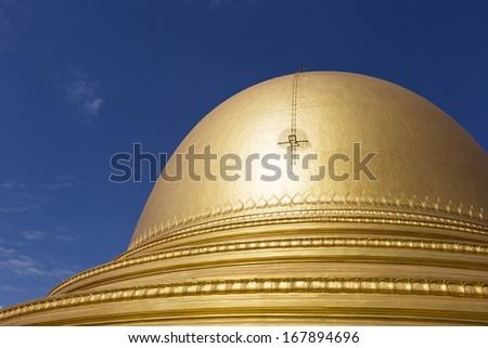 Kaunghmudaw Pagoda near Sagaing, central Myanmar, Southeast Asia - stock photo