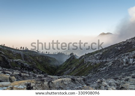 Kawah Ijen Crater, INDONESIA. - stock photo