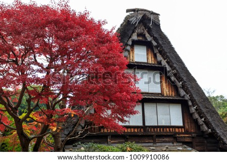 Kawasaki, Japan. 11 08 2017. Traditional Japanese House In Kawasaki Japan