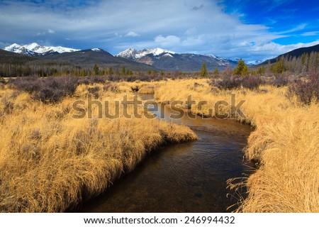 Kawuneeche Valley - stock photo