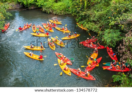Kayaker sporting ,Thailand - stock photo