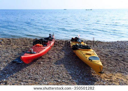 Kayaking in Crimea November 7, 2015. Balaklava Vasili beach. Hiking.