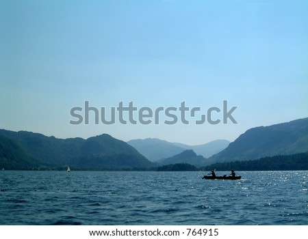 Kayaking on Derwent Water in the Lake District