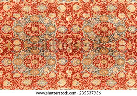 Kayseri Buyun rug  in a carpet showroom in  Cappadocia, Turkey - stock photo