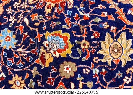 Kayseri Buyun rugs  in a carpet showroom in  Cappadocia, Turkey - stock photo