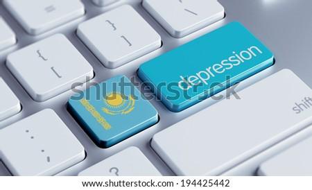 Kazakhstan High Resolution Depression Concept - stock photo