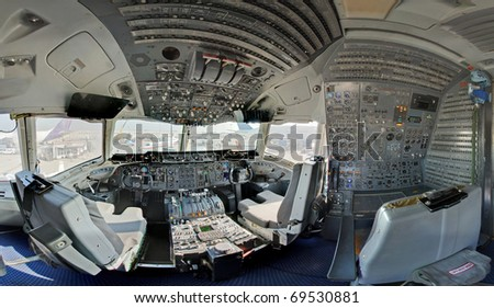kc10 tanker wide angle - stock photo