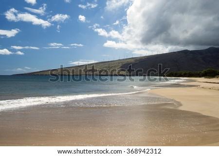 kealia Beach , Maalaea Bay , Maui , Hawaii -1 - stock photo
