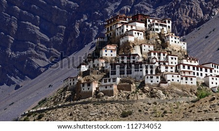 Kee monastery in himalayas mountain - stock photo
