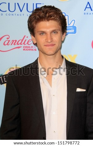 Keegan Allen at the 2013 Teen Choice Awards Press Room, Gibson Amphitheatre, Universal City, CA 08-11-13