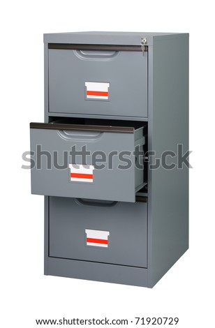 Keep all documents here in the cabinet with front drawers - stock photo
