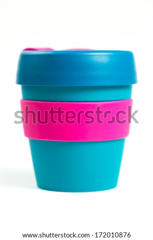 Keep cup on white background - stock photo
