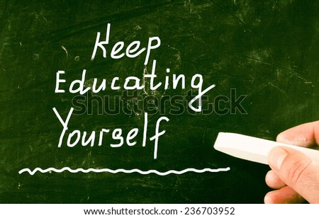 keep educating youself - stock photo