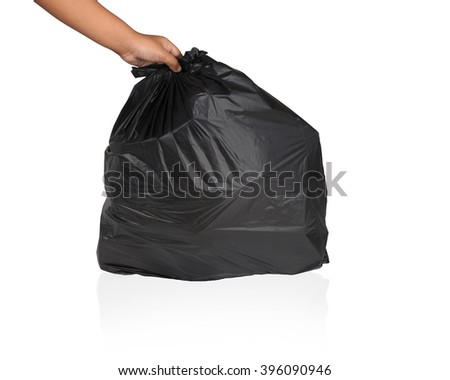 Keep garbage in bag for eliminate isolated on the white background. This has clipping path