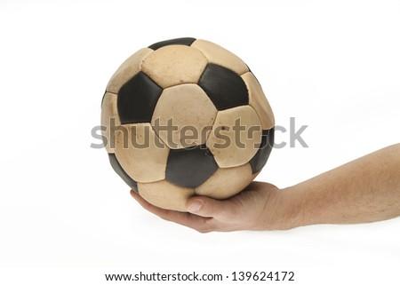 keep hand on the ball - stock photo