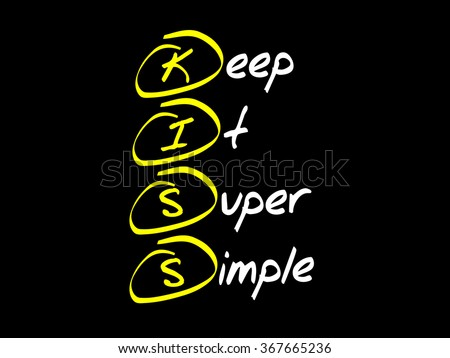 Keep It Super Simple (KISS), business concept acronym - stock photo