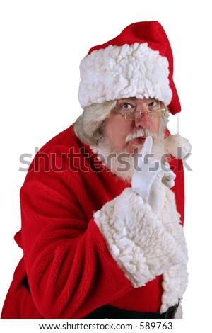 Keep Santa's Secret - stock photo