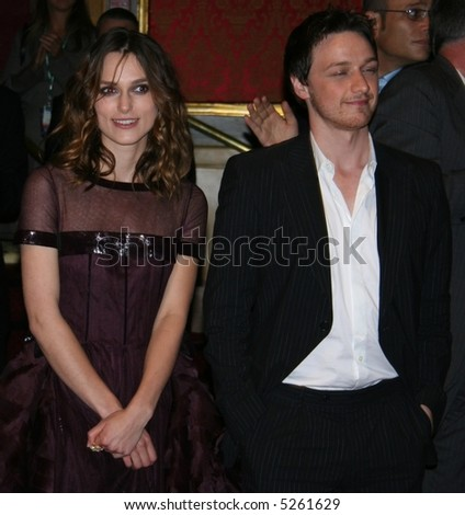 Keira Knightley & James MacAvoy at the north american premier of Atonement at the Toronto Film Festival