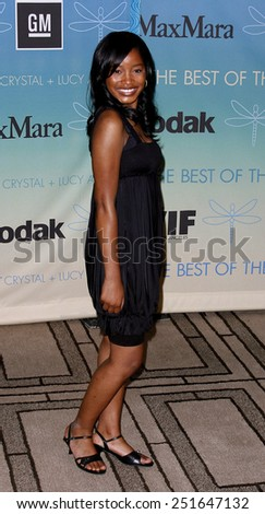 Keke Palmer attends Women In Film Presents The 2007 Crystal and Lucy Awards held at the Beverly Hilton Hotel in Beverly Hills, California, California, on June 14, 2006.  - stock photo