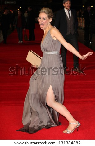 Kellie Shirley arriving at the UK premiere of Run For Your Wife, at the Odeon Leicester Square, London. 05/02/2013 Picture by: Alexandra Glen