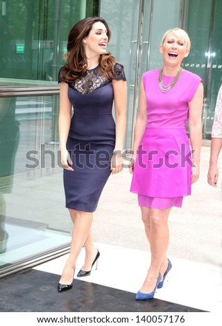 Kelly Brook and Ali Hall arriving for Lorraine's High Street Fashion Awards, London. 22/05/2013 - stock photo
