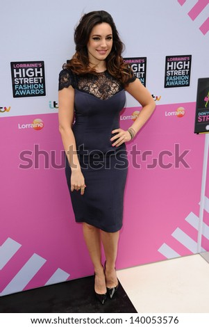 Kelly Brook arriving for Lorraine's High Street Fashion Awards 2013, Canary Wharf, London. 22/05/2013 - stock photo