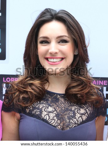 Kelly Brook arriving for Lorraine's High Street Fashion Awards, London. 22/05/2013 - stock photo