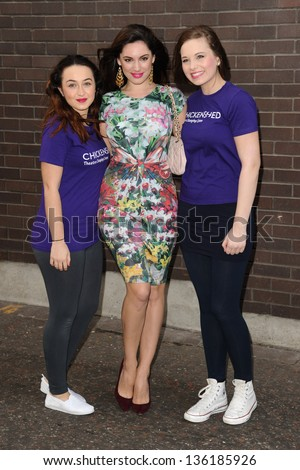 Kelly Brook arriving for the Chickenshed Theatre charity event, London Studios, South Bank, London. 16/04/2013 Picture by: Steve Vas - stock photo
