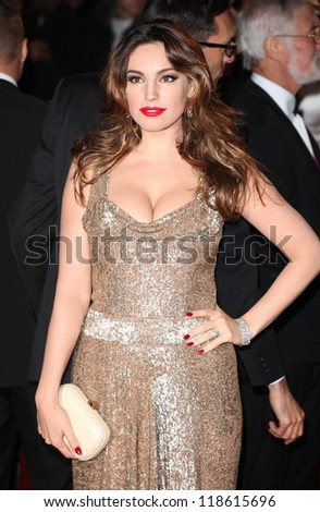 Kelly Brook arriving for the Royal World Premiere of 'Skyfall' at Royal Albert Hall, London. 23/10/2012 Picture by: Alexandra Glen - stock photo