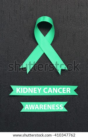 Kelly Green Ribbon Kidney Cancer Awareness Stock Photo Edit Now