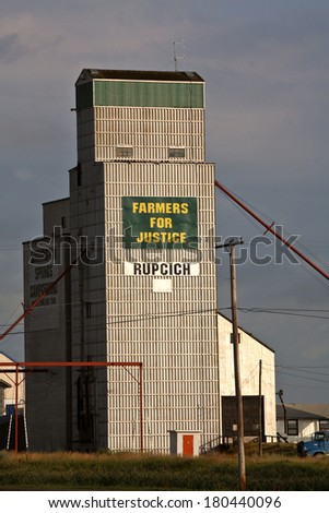 Kenaston grain elevator in scenic Saskatchewan - stock photo