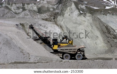 kennecott Copper Mine. Scoop and Truck. Moving dirt and ore to crusher and smelter.