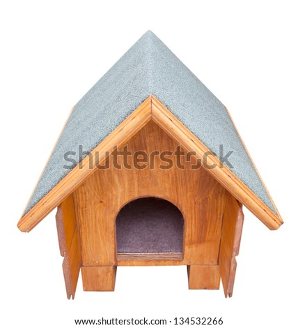 Kennel isolated on white - stock photo
