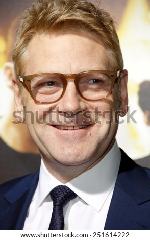"Kenneth Branagh at the Los Angeles Premiere of ""Jack Ryan: Shadow Recruit"" held at the TCL Chinese Theatre in Los Angeles, California, United States on January 15, 2014."