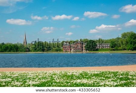 Kensington palace in London - stock photo
