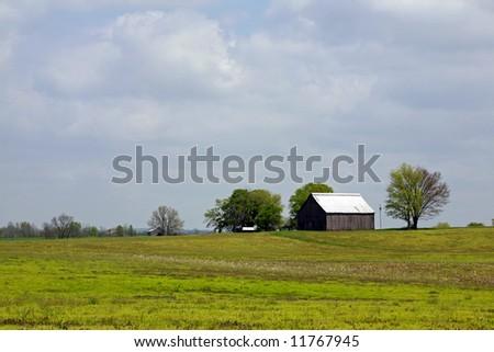 Kentucky farmland - stock photo
