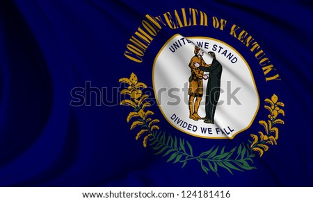 Kentucky flag - USA state flags collection no_3 - stock photo