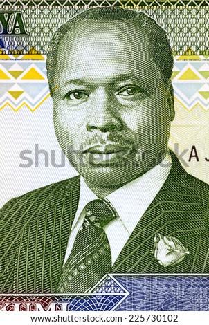 KENYA - CIRCA 1990: Daniel arap Moi (born 1924) on 10 Shilingi 1990 Banknote from Kenya. President of Kenya during 1978-2002. - stock photo