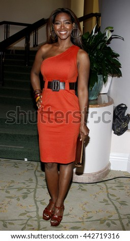 Kenya Moore at the Essence Black Women in Hollywood Luncheon held at the Beverly Hills Hotel in Beverly Hills, USA on February 19, 2009. - stock photo