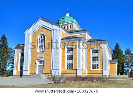 Kerimaki, Eastern Finland. The biggest wooden church in Scandinavia