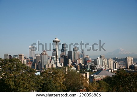 Kerry Park (Day); Seattle Skyline  - stock photo