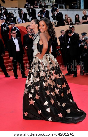 """Kerry Washington at premiere for """"Synecdoche, New York"""" at the 61st Annual International Film Festival de Cannes.  May 23, 2008  Cannes, France. Picture: Paul Smith / Featureflash - stock photo"""