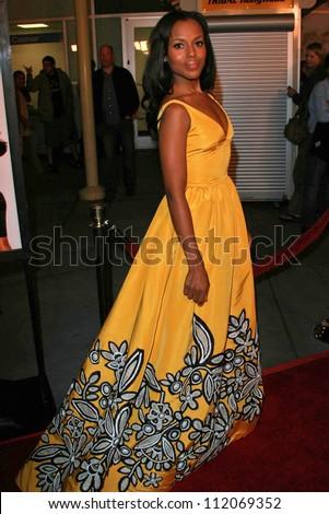 "Kerry Washington at the premiere of ""I Think I Love My Wife"". ArcLight Theatre, Hollywood, CA. 03-07-07 - stock photo"