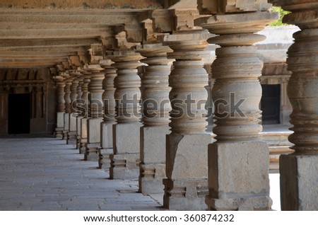 Keshava Temple of Hoysala Architecture at Somanathapura, Karnataka - stock photo